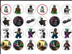 24 x Lego Batman Wafer Paper Cup Cake Tops